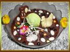 Décor pascal pour une mousse au chocolat