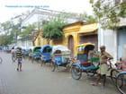 Départ pour la balade en rickshaw