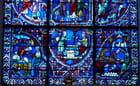 Détail : Les donateurs : les boulangers représentés en bas d'un vitrail