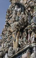 Détail temple hindou