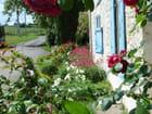 Devant de porte fleuri