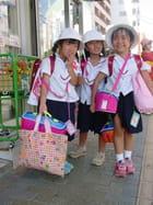 Ecolières japonaises à nagasaki