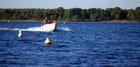 en bateau sur le lac
