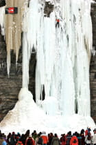 Escalade sur glace.