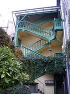 Escalier vert