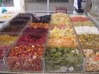 Éventail de fruits séchés