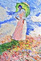 Femme avec Ombrelle,influence;C.Monet.