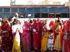 Femmes habillées pour un mariage à Jodhpur (Rajasthan)
