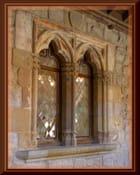 Fenêtre médiévale à meneau