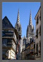 Flèches de la cathédrale Saint Corentin