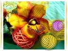 Fleur tricotée