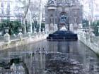 Fontaine médicis gelée