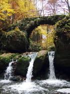 Forêt de Müllerthal - pont et cascade