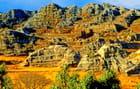 Formations rocheuses du massif de l'Isalo