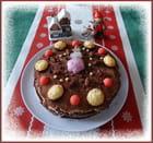 Gâteau maison au chocolat pour un goûter entre vieilles dames
