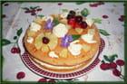 Gâteau maison fourré à la crème mousseline