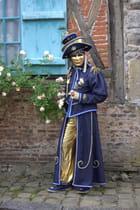 Gerberoy,fête de la rose,costumes vénitiens