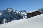 Grenier à foin dans les Alpes