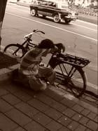 Homme au vélo