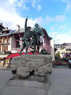Horace Bénédict de Saussure et son guide(Chamonix)