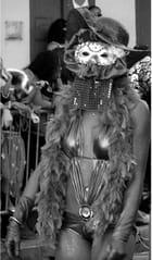 Images de carnaval en noir et blanc