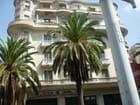 Immeuble et palmiers