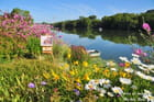 Jardin d'artiste peintre en bord de Seine