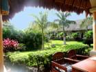 Jardin d'un hôtel au Mexique