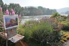 jardin du peintre Michèle Ratel en bord de Seine