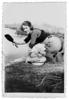 Jeanne lave le linge