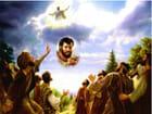 Jésus monte au ciel devant ses disciples...