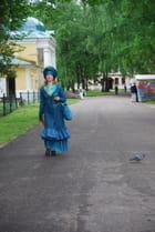 jeune femme Russe en costume d'époque