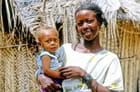 Jeune mère de Zanzibar