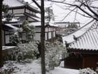 Kyoto : les constructions enneigées du Komizu-Dera