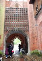 l'entré du château des chevaliers Teutonique de Marienbourg