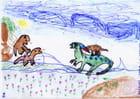 La bataille des dinosaures