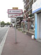 La borne routière de limite Le Pecq - Le Vésinet