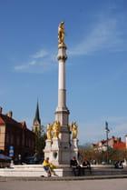la colonne face à la cathédrale Saint Stéphane