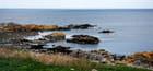 la côte de l'île de Bornholm