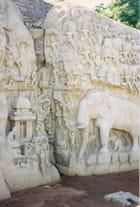 """""""La descente du Gange"""", fresque du VIIème siècle"""