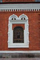 la fenêtre de l'église orthodoxe
