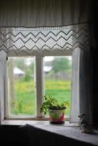 la fenêtre du chalet