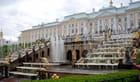 la grande cascade du château de Peterhof