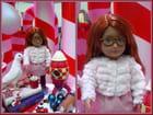 La jolie poupée avec des lunettes