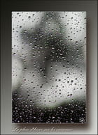 La pluie d'hiver sur les carreaux