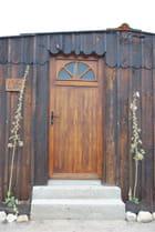 la porte de la cabane de pêcheur