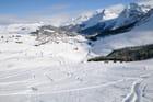 La station de ski Arosa en hiver
