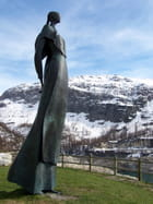La statue de Livio Benedetti,