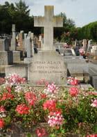 La tombe de Jehan Alain, au Pecq