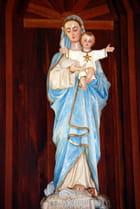 la Vierge et l'enfant de l'église de Cilaos